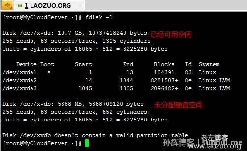 完整Linux VPS挂载未使用硬盘教程方法